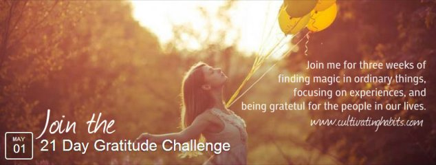 21 day gratitude challenge join me