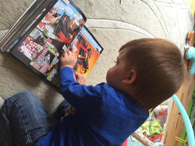 nathan reading comic